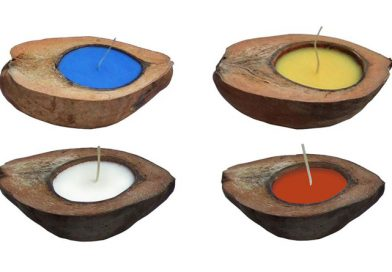 Coconut Scented Candle Long Cut