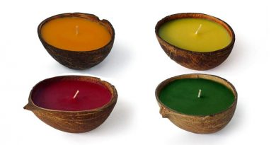 Coconut Shell Scented Candle