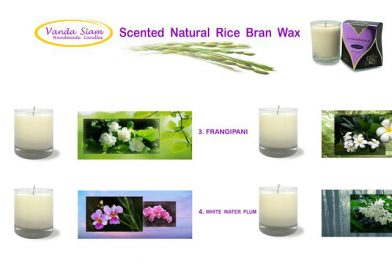 FOUR Scented Natural Rice Bran Wax
